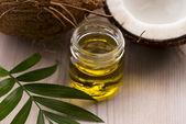 Coconut and coconut oil — Stock Photo