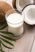 Coconut fruit with coco milk — Stock Photo