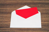 Open envelope and note — Stock Photo