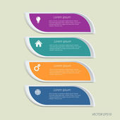 Vektorový infographic podtisku. — Stock vektor