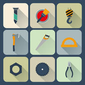 инструменты икона set — Cтоковый вектор