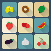 Food flat icons — Stock Vector