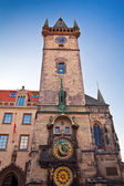 Tower With Astronomical Clock — Stock Photo