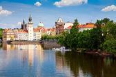Prague And Vltava River — Stock Photo