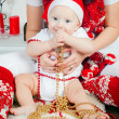 Boy In Santa — Stock Photo
