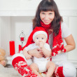 Baby in Santa — Stock Photo