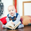Curious Boy With Book — Foto de Stock