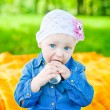 Eating Little Girl — Stock Photo
