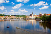 View Of Charles Bridge And Vltava River — 图库照片