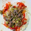 Rice Noodles with Meat and Vegetables - Foto Stock