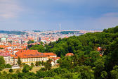 Prague from Petrin Hill — Stock Photo