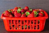 Strawberries In Box — Stock Photo