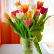 Bouquet of Tulips In A Vase - Stock Photo