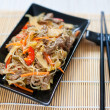 Chinese Rce Noodles With Meat And Vegetables — Stock Photo