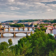Stock Photo: Panoramic View of Prague Bridges