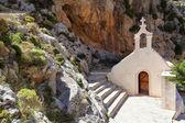 Chiesa di san nicola nella gola di kourtaliotiko — Foto Stock
