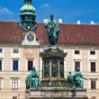 Monument to Emperor Franz Joseph I in Hofburg — Stock Photo #36715591