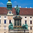 monument to emperor franz joseph i in hofburg — Stock Photo
