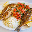 Grilled gilt-head bream and red snapper — Stock Photo