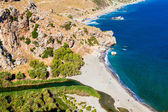 Preveli beach — Stock Photo