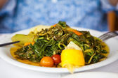 Healthy vegetarian cretan salad — Stockfoto