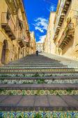 Famosos pasos en caltagirone, sicilia — Foto de Stock