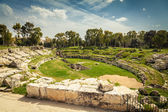 Roman amphitheatre of Syracuse — Stock Photo