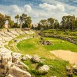 Ancient Roman amphitheatre of Syracuse — Stock Photo #49640319