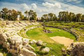 Ancient Roman amphitheatre of Syracuse — Stock Photo