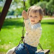Little girl afraid of swinging — Stock Photo #50054835