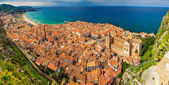 Village Cefalu from above — Stock Photo