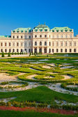 Belvedere Palace with a beautiful lawn — Stock Photo