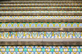 Decoration of famous steps in Caltagirone — Stock Photo