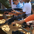 Childrens with weapon — Stockfoto #32765587