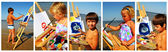 Childrens paints. Collage — Stock Photo