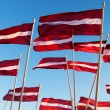 Stock Photo: Latviflags