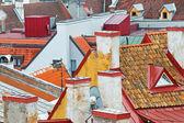 Roofs of the old Tallinn — Stock Photo