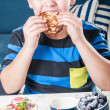 Eating boy — Stock Photo