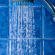 Shower with water stream in a shower unit — Stock Photo #49286793