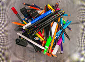 Stationary and office supplies — Stock Photo