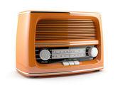 оранжевый ретро радио — Стоковое фото