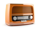 Oranžový retro rádio — Stock fotografie