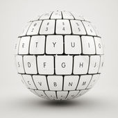Keyboard sphere — 图库照片