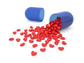 Heart pills — Stockfoto