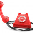 Stock Photo: Red old-fashioned phone