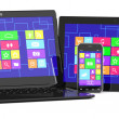 Stock Photo: Tablet PC, laptopand smartphone