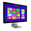 Computer screen isolated - Stockfoto