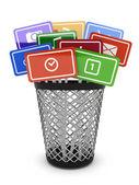 Media concept bucket — Stock Photo