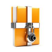 Folder with combination lock — Stock Photo