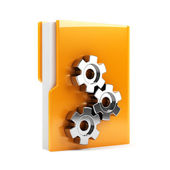 Folder with gears — Stock Photo